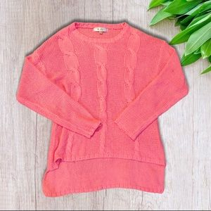 S Line Crew Knit Pink Sweater